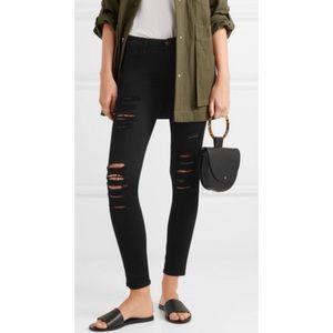 FRAME Denim Le Skinny de Jeanne distressed jeans